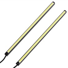 Hot Sale! 2 piece/lot 20cm 5W  super bright DRL LED Daytime Running Lamp Waterproof Ultra Slim Auto COB Light