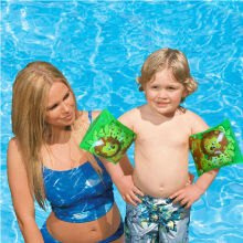 Cartoon A Double Children Begin to Swim Basic Armbands Inflatable Floats Swim Ring Swim Tube Environmental PVC(China)