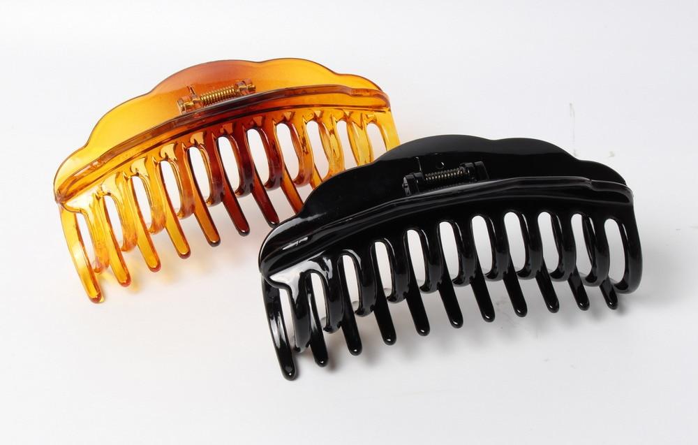 2pcs Women Large Hair Claw Clamps Hair Clip Bathroom Floral Claws Clamp 10cm
