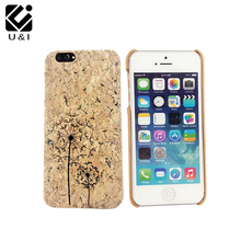 Luxury Laser Engrave Natural Cork Wood Case Cover Cell Phone Capa Blank Wooden Coque For iPhone 6 6S 6PLUS 6SPLUS 7 7PLUS Giraff