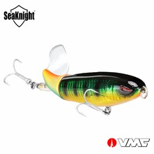 SeaKnight SK050 SK051 Whopper Plopper 1PC Fishing Lure 13g 90mm / 39g 130mm Topwater Rotating Tail VMC Hooks Bass Fishing Bait(China)