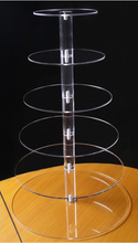 Circle Acrylic Cupcake Wedding Party Cake Stand 6 Tier Crystal Clear Acrylic Round Square CupCake Stand Display Party decoration