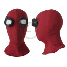 Superhero Spiderman Mask Movie Cosplay Accessories Halloween Spider-Man Mask Homecoming Cosplay Spider Man hat red mask(China)