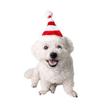 2017 newest pet product factory direct sale pet dog Christmas striped fashion hat(China)