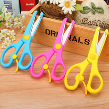 1 pcs Lovely Candy Colours Safety Students DIY Scissors Children Scissored School Handwork Supplies Family Supplies