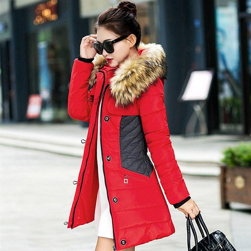 brand Winter warm Jacket Women spliced Parka Fur Collar Thicken Windproof outerwear Cotton Padded long slim plus size 3XL CoatsОдежда и ак�е��уары<br><br><br>Aliexpress