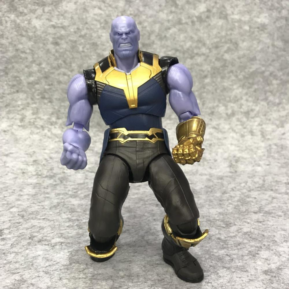 Avengers Infinity War Thanos Figure PVC Avengers Marvel Action Figures Thanos Toys Lighting Collectible Model Toy for children (7)