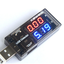 USB Current Voltage Tester Meter USB Voltage Ammeter USB Detector Double Row Shows Volt Meter Test(China)