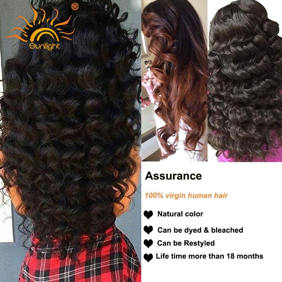 Brazilian Virgin Hair Loose Wave Human Hair Bundles Sunlight Human Hair Products Natural Hair Extension Free Shipping 10-28″