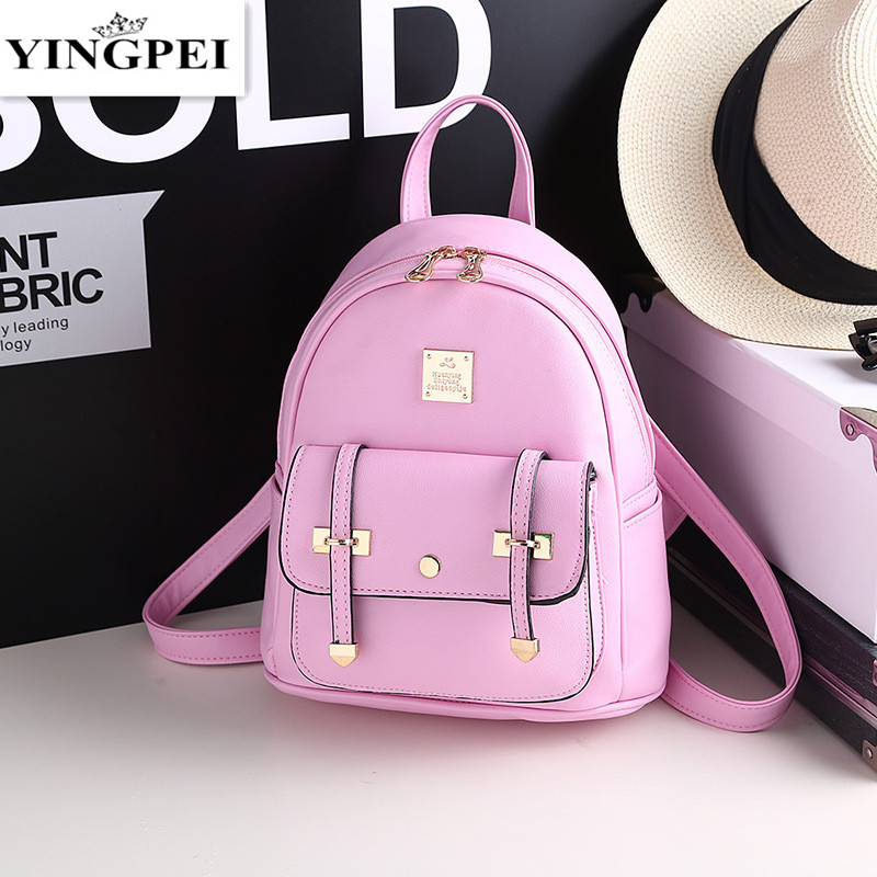 Lattice Women Leather Backpacks 2016 high quality School Bags Teenager Female Students Shoulder Girls Preppy Style<br><br>Aliexpress