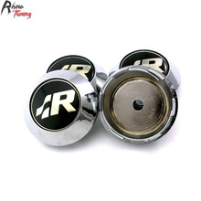 Rhino Tuning 4PC 68mm R Line R Racing Car Wheel Centre Center Cap Emblem For Golf Jetta Beetle Golf Sharan 357(China)