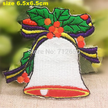 new arrival 10 pcs sport Christmas bell Embroidered patches iron on cartoon Motif Applique embroidery accessory