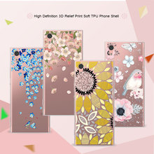 3D Art Print Case Coque For Sony Xperia XA1 5.0 inch Flower Lace Relief Soft TPU Phone Cases Cover For Sony XA1 XA 1 Funda Capa