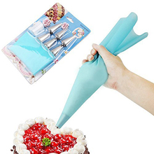 ( 8pcs/set ) Silicone Icing Piping Cream Pastry Bag DIY Cake Decorating Tool Confectionery Kits(China)