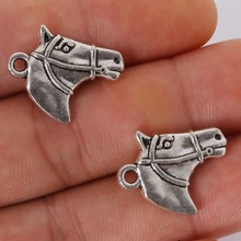 4pcs 22x16mm Antique Silver Plated Horse Head Charms Pendant For Jewelry Making Necklace Bracelet DIY Jewelry Findings