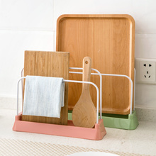 New Arrival Stainless Steel Pot Lid Cutting Board Sponge Rag Shelf Cooking Storage Pan Cover Lid Spoon Holder Rack Stand