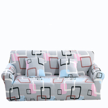 Grey Couch Sofa Covers For Living Room Multi-size Plaid Corner Sofa Slipcovers Modern Universal Stretch Furniture Cover Plush