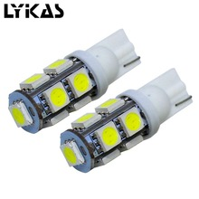 2pcs RGBWY T10 Led Bulb 12V Auto Led Light Car Reading Indication Lamp Bulbs Auto Tail Light Car Parts(China)