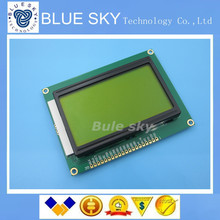 2PCS 128*64 DOTS LCD module green screen 5V LCD LCD module green screen LCD 12864 with backlight ST7920 Parallel port