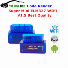 Full Chip 25K80 Super Mini ELM 327 WIFI V1.5 OBDII / OBD2 Auto Code Scanner On Android & IOS ELM327 Wifi For All OBD II Protocol(China)