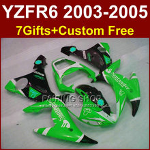Santander green body repair parts for YAMAHA R6 fairing kit 03 04 05 YZF R6 2003 2004 2005 Motorcycle fairings sets DWU7