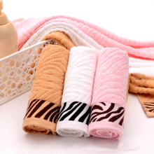 JZGH 34*76cm 4pcs Striped Organic Bamboo Face Towels Set,Terry Bathroom Bamboo Towels Set,Cotton Bamboo Fiber Face Towels,T127(China)