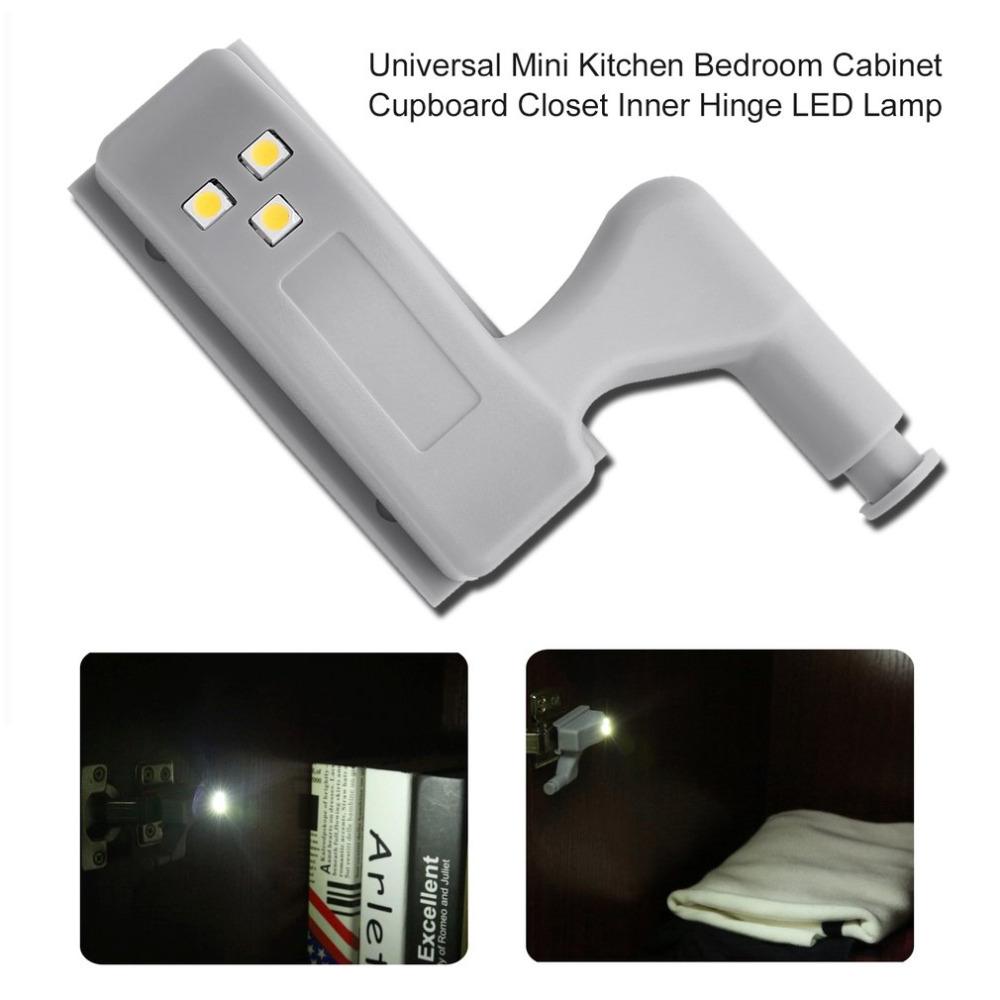 ICOCO 1pcs Mini Size Kitchen Bedroom Cabinet Cupboard Closet Wardrobe Inner Hinge LED Sensor Light Lamp System Hot Sale Promtion