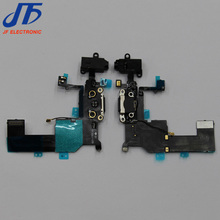 10pcs/lot For iPhone 5c Charger Charging Port Dock Connector Flex Cable Ribbon with Headphone Audio Jack Free shipping