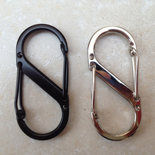 1PCS keyring Stainless Steel S 8 Type Carabiner EDC Key Keychain Clasps Clips For Camping Hiking Survival Fast Hook Tool key rin(China)