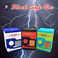 Cool ATM Bank Money Saving Box Shock Safe Coin Bank Password Piggy Bank Safes Smart Voice Prompts Electronic Lock Code Money Box
