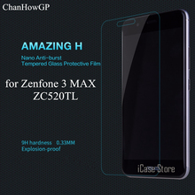 9H Tempered Glass Premium Screen Protector For Asus Zenfone 3 Max ZC520TL Anti-Explosion Protective Film Wholesale(China)