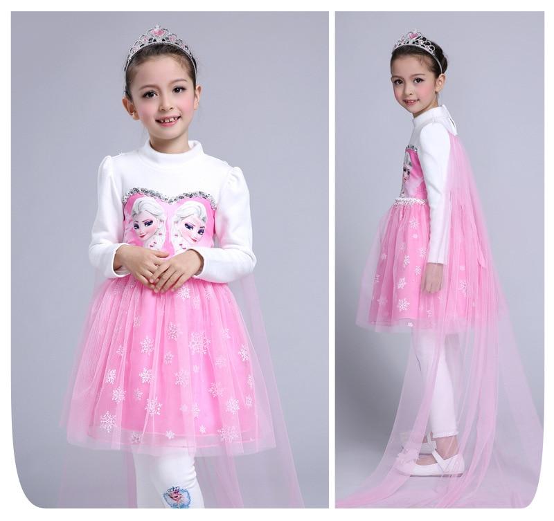 Children Dress New Custom Anna Elsa Girls Princess Girl Baby Kids Dress Cloth Vestidos Infants Baby Dresses For Cosplay <br>