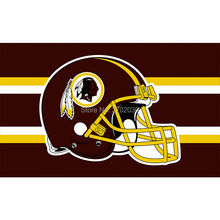Helmet Strip Red Design Washington Redskins Flag Football Team Flags Super Bowl Champions Black Banner Fans 3x5 Ft