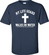 2017 Rushed Limited Tee4u T Shirt Ideas O-neck Design Short Sleeve Mens My Life Guard Walks On Water Men Compression Shirts