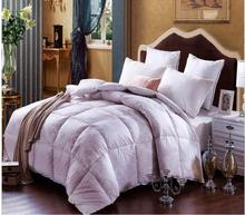 Winter fake duck Down Comforter quilted Blanket Quilt osyter/pink bedding Filling single double King Queen cotton Duvet