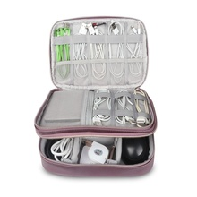 Fashion Universal Double Layer Travel Gear Storage Organizer / Electronics Accessories Bag / Battery Charger Case