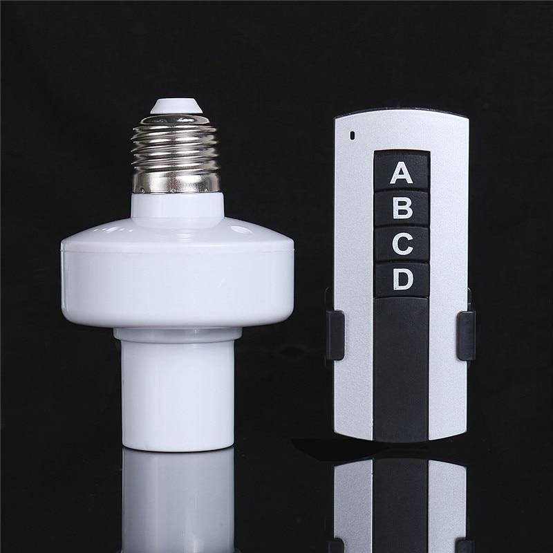 110V-240V/500W 3 Way E27 Screw Holder Wireless Remote Control Light Lamp Bulb Cap Socket<br>