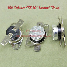 Buy 10pcs/lot KSD301 Thermostat Normally Normal Close 100 Degrees Celsius Thermostat Switches NC Temperature Switch for $3.42 in AliExpress store