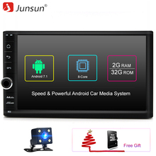 Junsun universal 2 Din Android 7.1 Car Multimedia Play GPS navigation Tap PC Tablet For VW Golf 1990~2015+Wifi+Radio+Quad Core 8(China)