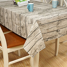Rectangle Europe Wood Striped Grain Table Cloth Cotton Linen Tablecloth For Table Home Waterproof Oilproof Table Cloth