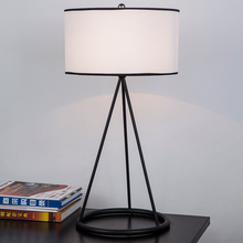 A1 American country garden style livingroom bedroom bedside lamp cloth study modern minimalist creative lighting Table lamps(China)