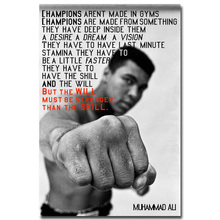 Be Stronger - MUHAMMAD ALI Motivational Quote Art Silk Poster Print 12x18 24x36 inch Inspirational Picture for Wall Decor(China)