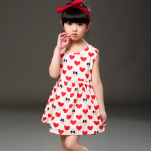 girls dress novatx kids clothes for girl red heart lovely summer dresses children clothing patry princess dress for girls WD028
