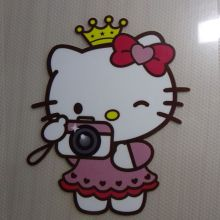 Free shipping hello kitty for kids Patches Heat Transfer Ironing Stickers For T-shirt Dresses Sweatshirt A-level Washable(China)