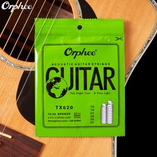 010 047 Inch Acoustic Guitar Strings Extra Light High-carbon Steel Hexagonal Alloy Orphee TX620(Hong Kong)