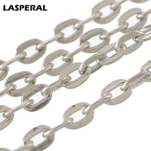 LASPERAL Fashion Silver Color Chain For Women Men DIY Necklace Belt Stempunk Jewelry Making Supplies Handmade Jewelry Gifts