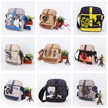 Japan Anime TOTORO ONE PIECE Naruto Fairy Tail Attack on Titan canvas bag Shoulder Messenger Bags Students School Bag 9 style