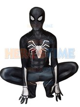Black And White Spiderman Costume Spandex Fullbody Spiderman 3D Printing  Insomniac Spiderman Cosplay Costume