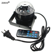 ZINUO Sound Activated 3W RGB LED Mini Crystal Magic Ball Effect LED Stage Lights Laser Projector Disco DJ Light Party Lights