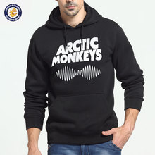 2017 New Arctic Monkeys Print Black Sweatshirt Men Hoodies Fashion Solid Hoody Men Pullover Men's Tracksuits male coats